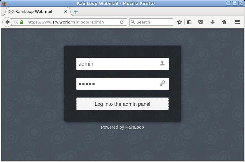 CentOS 7 : Apache httpd : Webメール : RainLoop : Server World