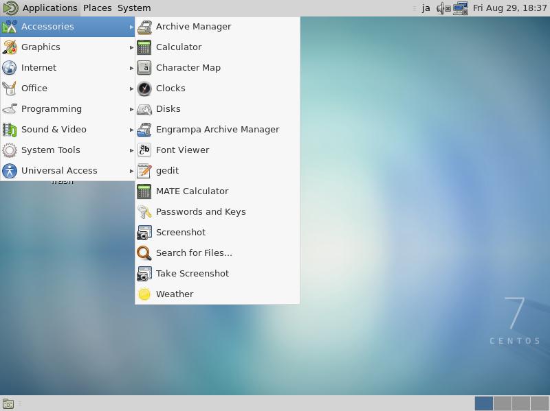 CentOS 7 : MATE デスクトップ環境 : Server World