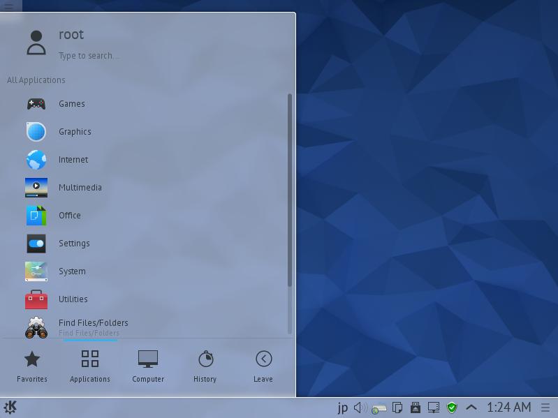 Fedora 22 : KDE デスクトップ環...