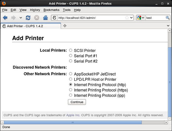 CentOS 6 - Cups - Client's Settings : Server World