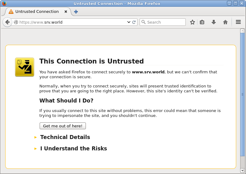 CentOS 6 - Apache httpd - Configure SSL : Server World