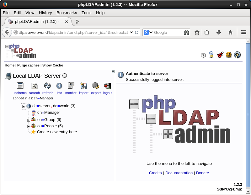 CentOS 6 - OpenLDAP - phpLDAPadmin#3 - Add a User : Server World