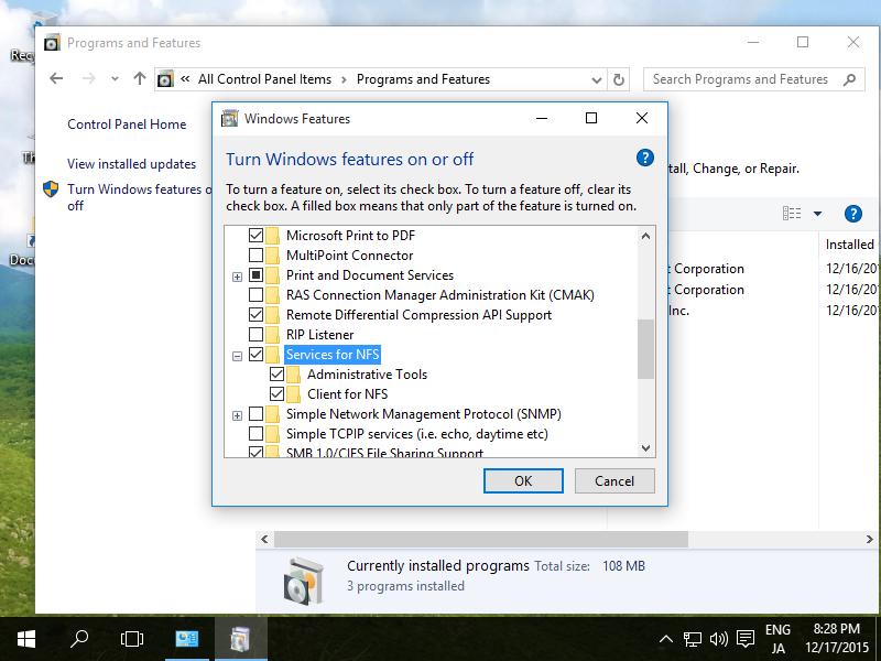 Nfs client windows 10