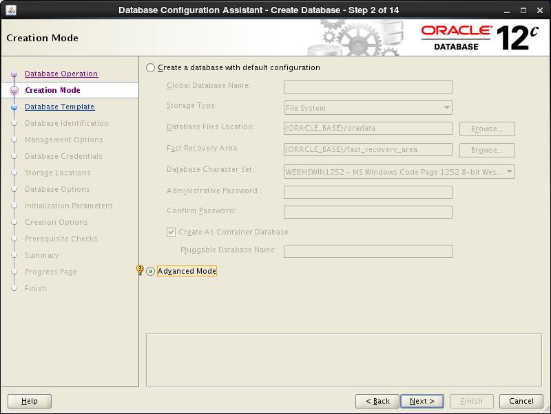 CentOS 6 - Oracle Database 12c - Create a Database : Server