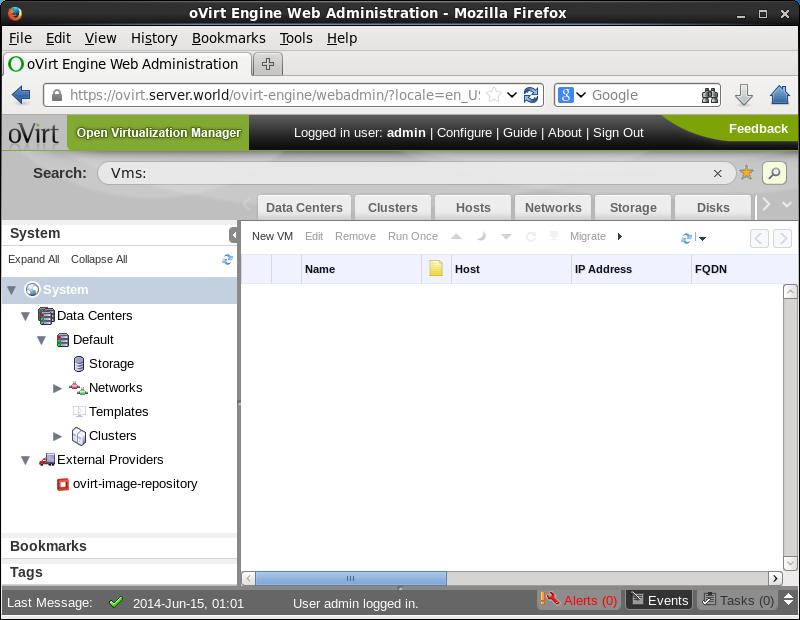 CentOS 6 - oVirt - Initial Setup on Web UI : Server World