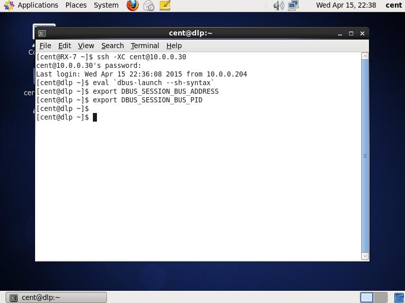CentOS 6 - SSH Server - X11 Forwarding : Server World