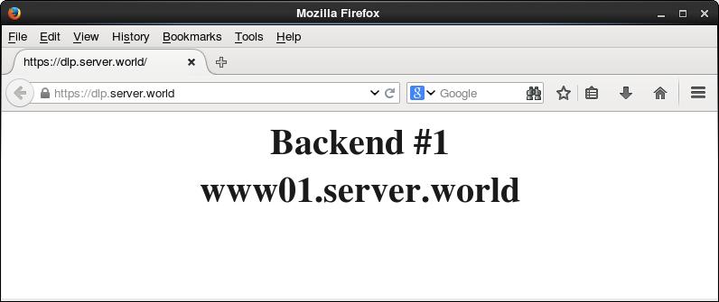 CentOS 7 : HAProxy : SSL Settings : Server World