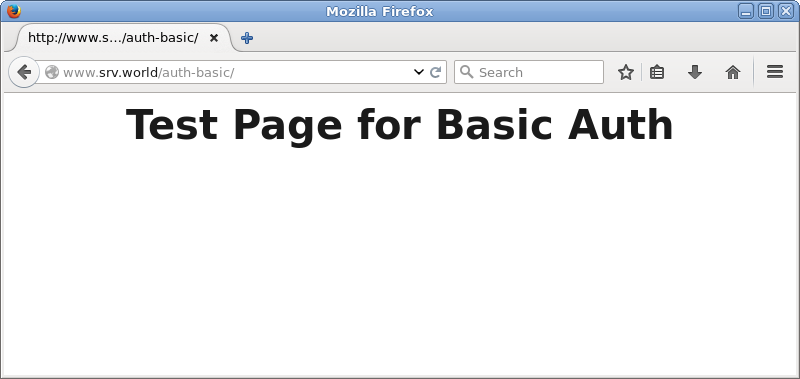 CentOS 7 : Apache httpd : Enable Basic Auth : Server World