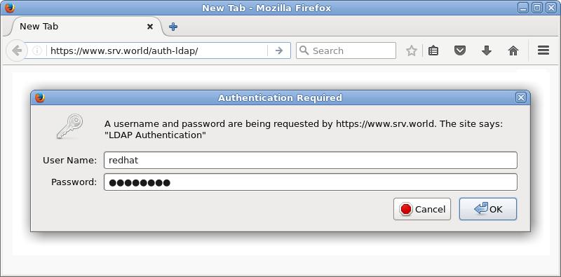 CentOS 7 : Apache httpd : Basic Auth+LDAP : Server World