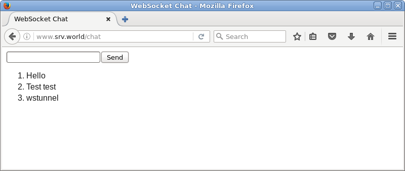 Firefox Websocket