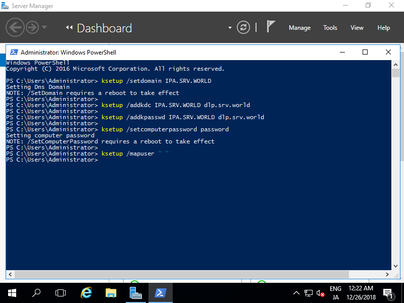 CentOS 7 : FreeIPA : Logon to Windows : Server World