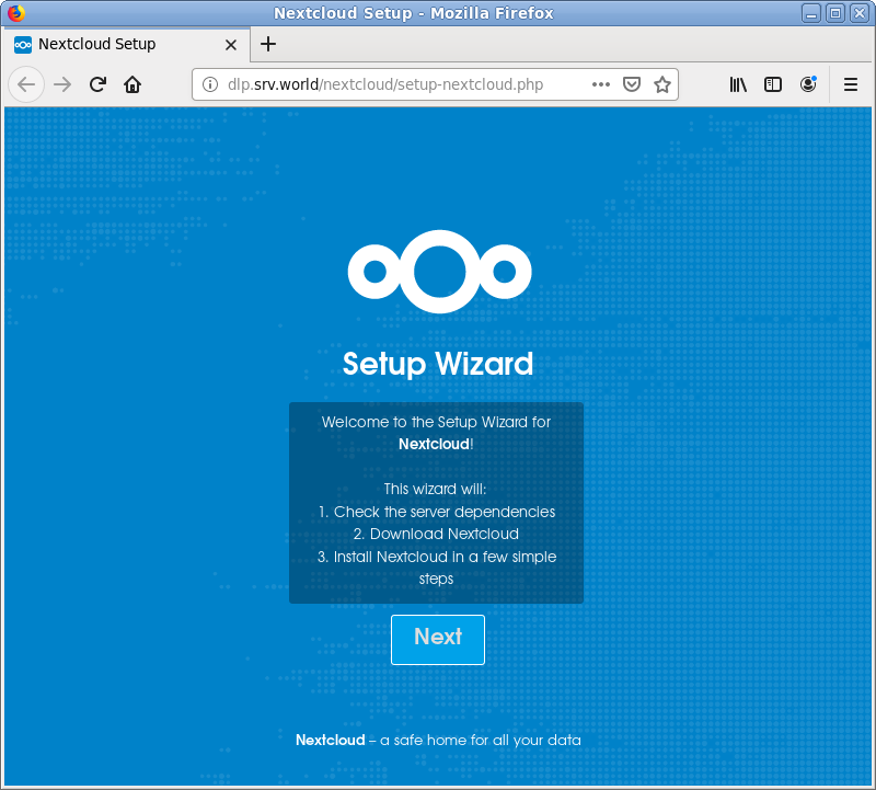 CentOS 7 : Install NextCloud : Server World