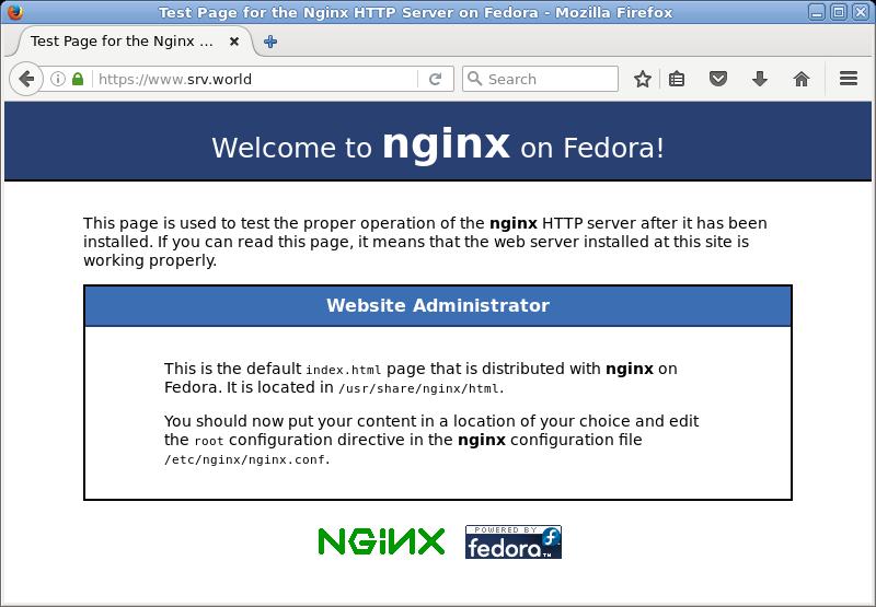 CentOS 7 : Nginx : Configure SSL : Server World