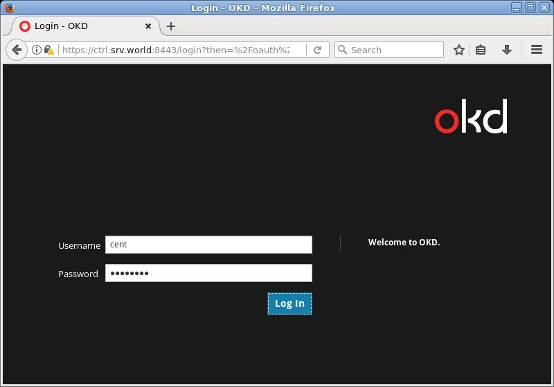 CentOS 7 : OpenShift(OKD) 3 11 : Add User Accounts : Server