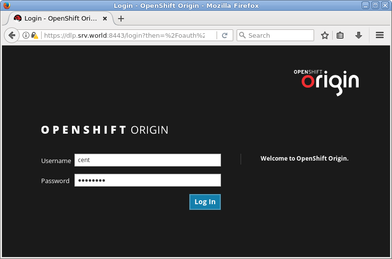 CentOS 7 : OpenShift 3 7 : Deploy Registry : Server World