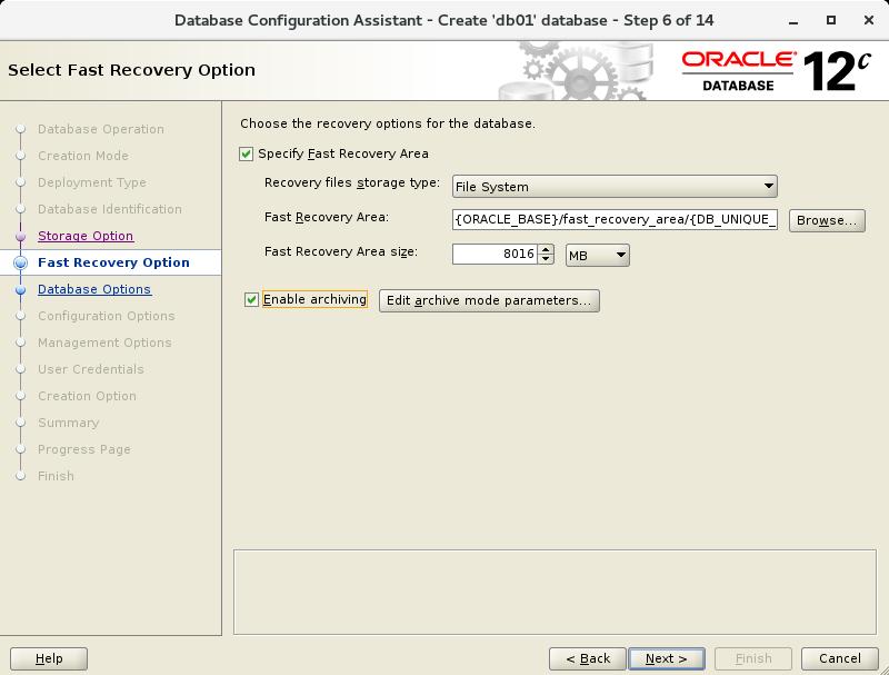 CentOS 7 : Oracle Database 12c : Create Database : Server World