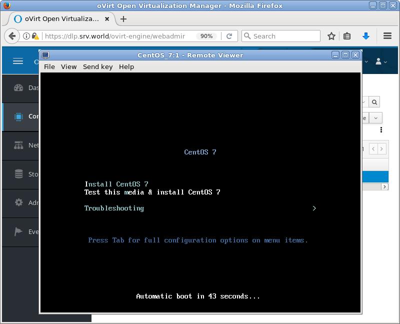 CentOS 7 : oVirt : Create Virtual Machines : Server World