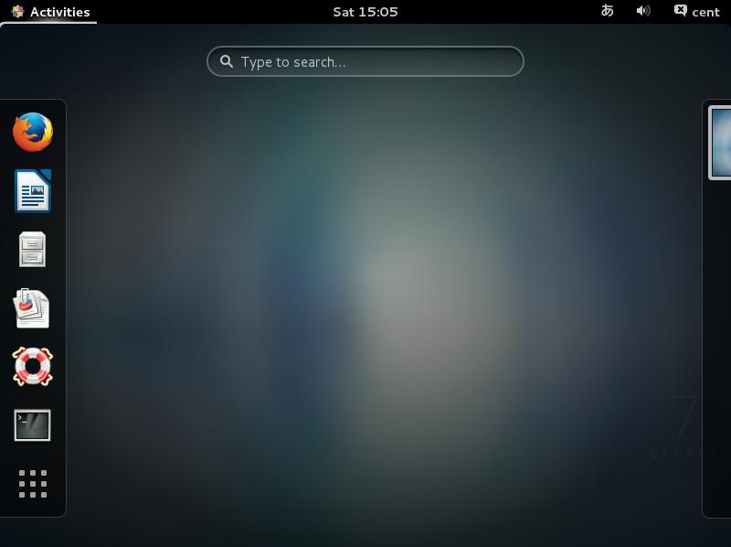 CentOS 7 : Use GNOME Shell : Server World