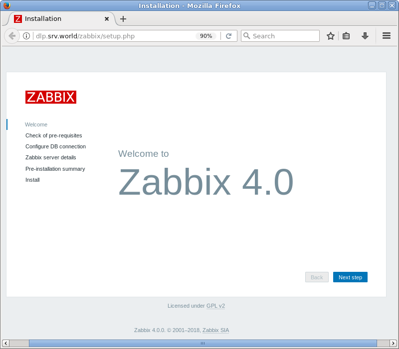 CentOS 7 : Zabbix 4 0 : Initial Setup : Server World