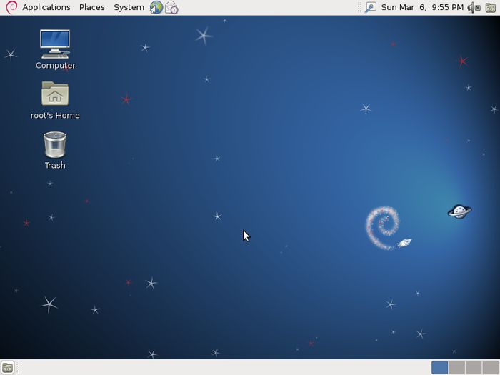 Debian Desktop Environment on Desktop Environment