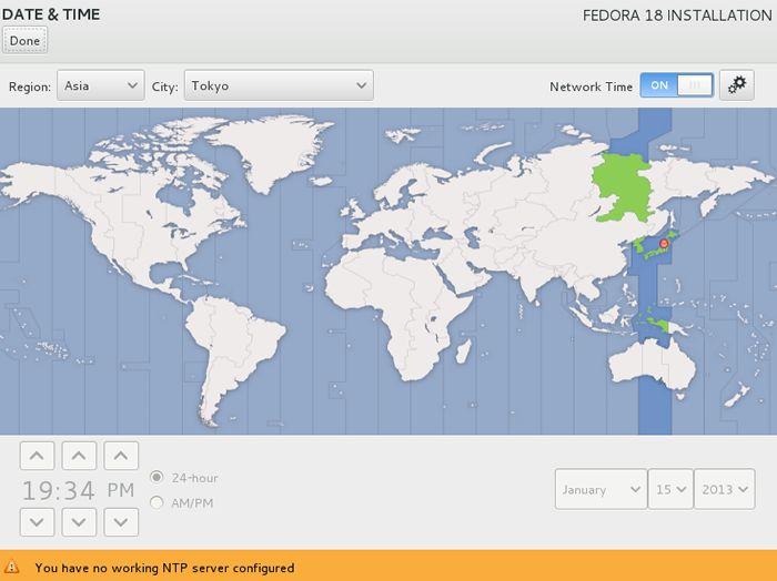Fedora 18 系统安装