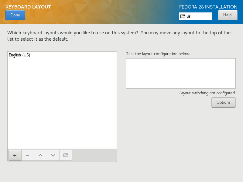Fedora 28 : Install : Server World