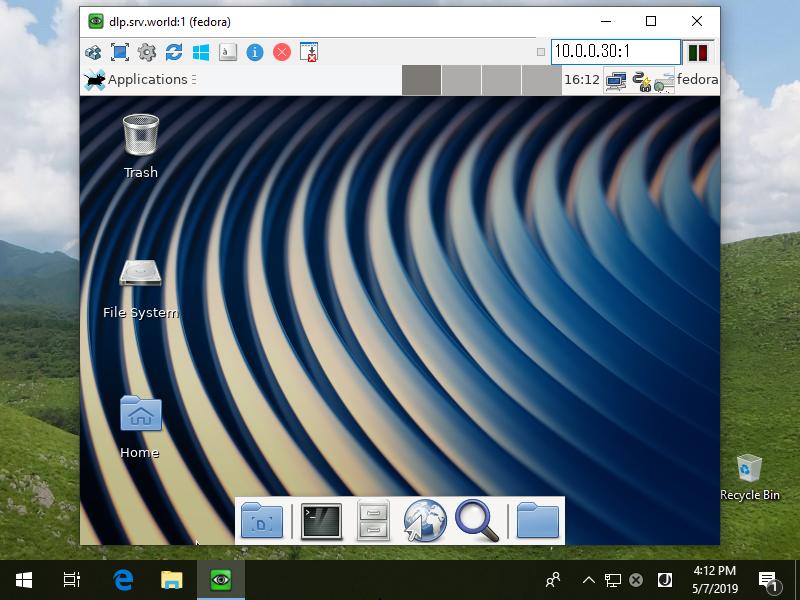 Fedora 30 : Configure VNC Server : Server World