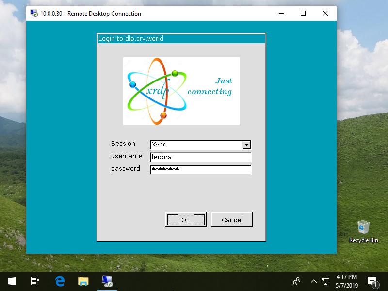Fedora 30 : Configure Xrdp Server : Server World