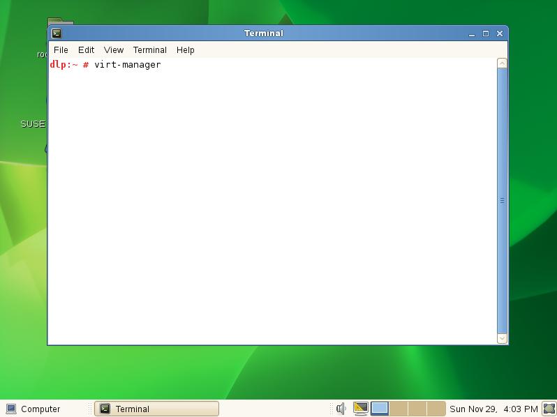 SUSE Linux Enterprise 11 SP4 : KVM : Create Virtual Machine#2