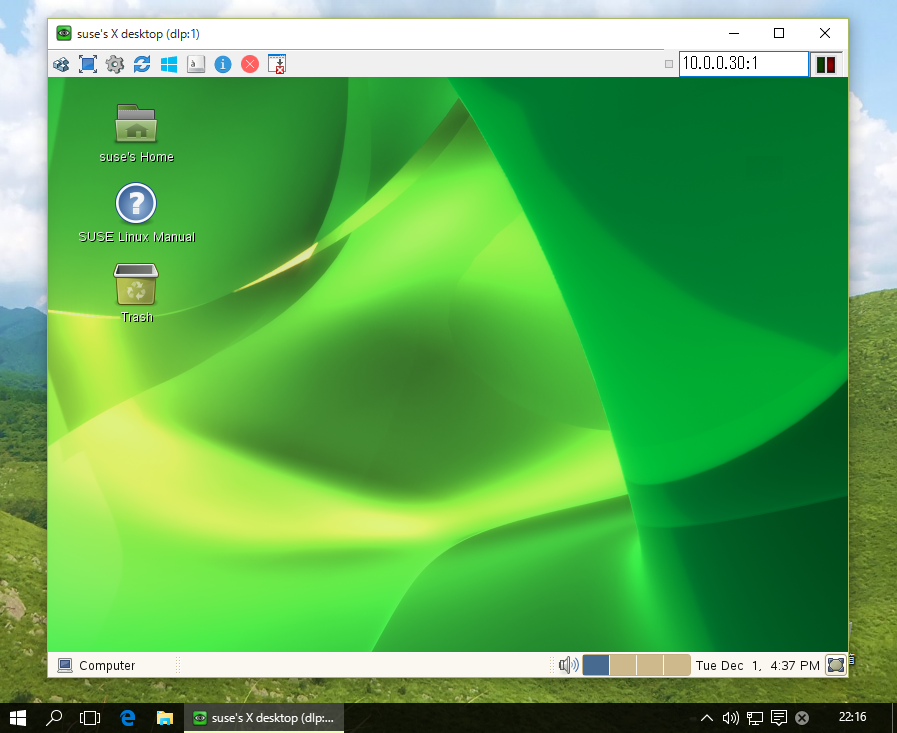SUSE Linux Enterprise 11 SP4 : Configure VNC Server : Server