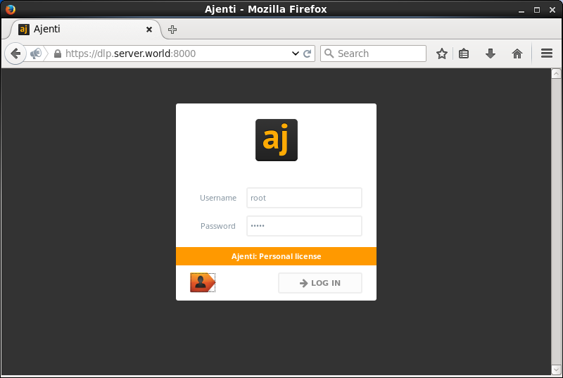 Ubuntu 14 04 LTS : Install Ajenti : Server World