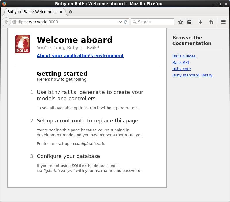 Ubuntu 14 04 LTS : Ruby on Rails 4 : Server World