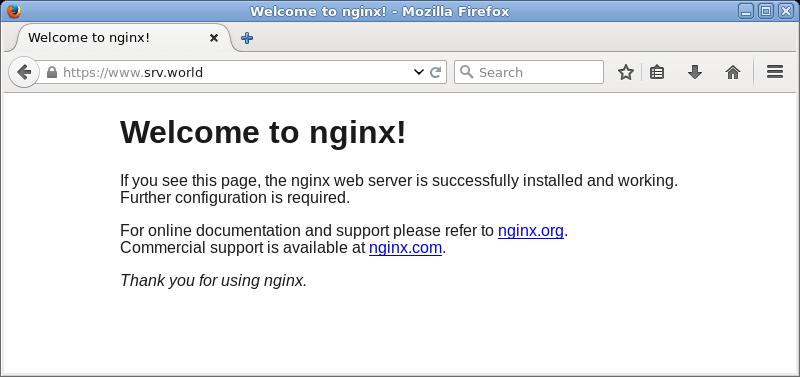 Ubuntu 16 04 LTS : Nginx : SSL Settings : Server World