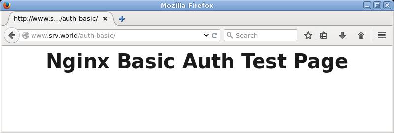 Ubuntu 16 04 LTS : Nginx : Basic Authentication : Server World