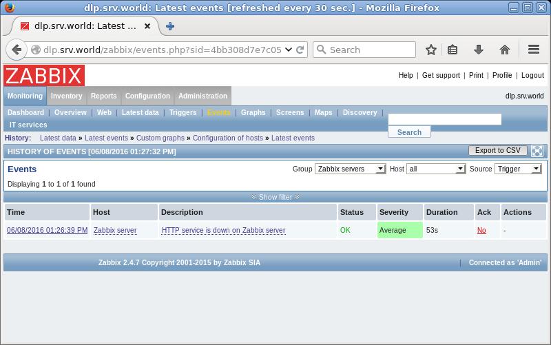 Ubuntu 16 04 LTS : Zabbix : Add Monitoring Item : Server World