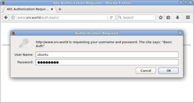 Ubuntu 1804 Lts Nginx Configure Basic Auth Server World