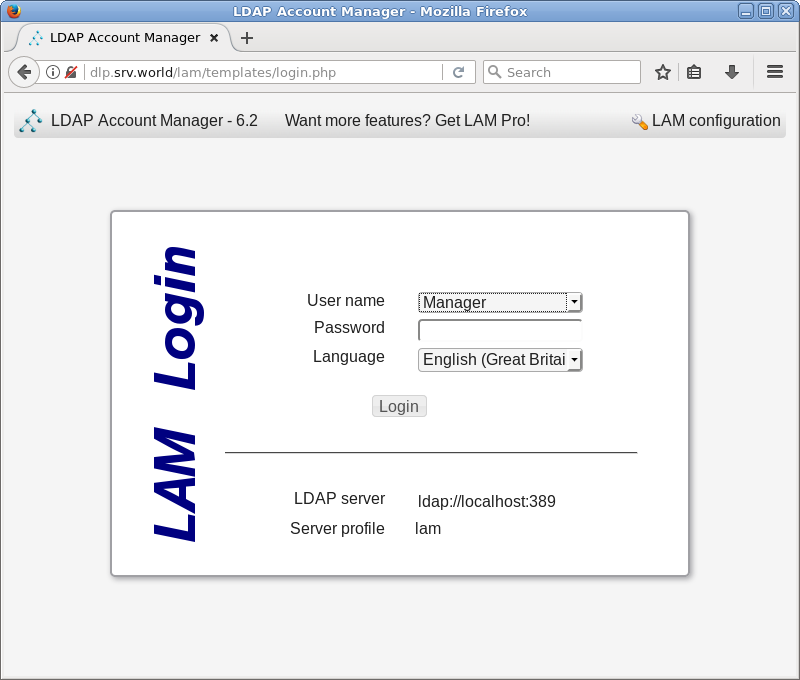 Ubuntu 18 04 LTS : OpenLDAP : LDAP Account Manager : Server