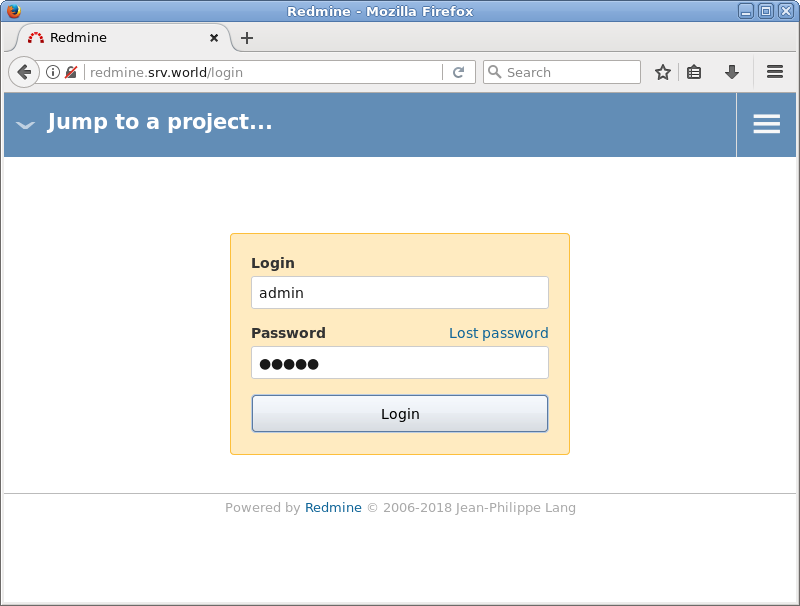 Ubuntu 18 04 LTS : Install Redmine : Server World