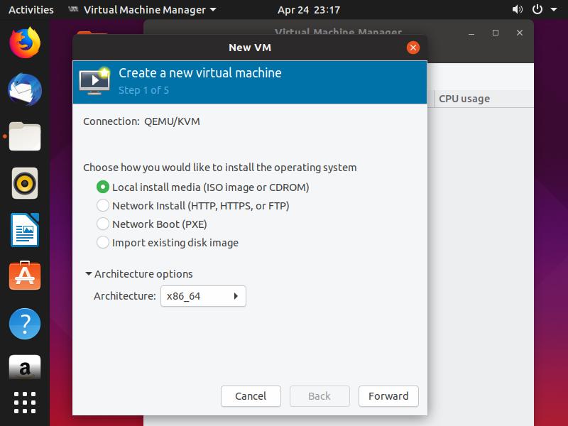 install qemu ubuntu 17.10