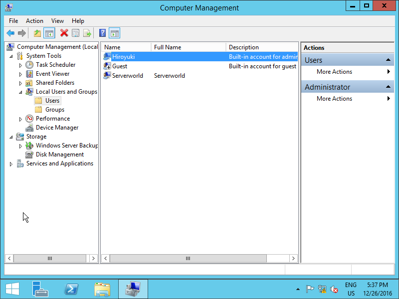 Windows Server 2012 R2 : Initial Settings : Change Admin User Name