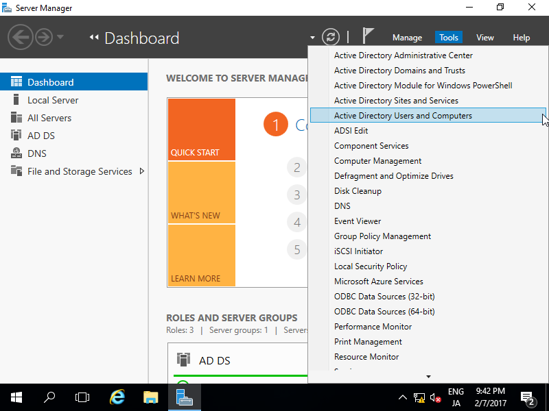 Windows Server 2016 : Active Directory : Add User Accounts