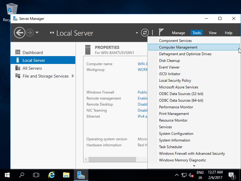 Windows Server 2016 : Initial Settings : Change Admin User