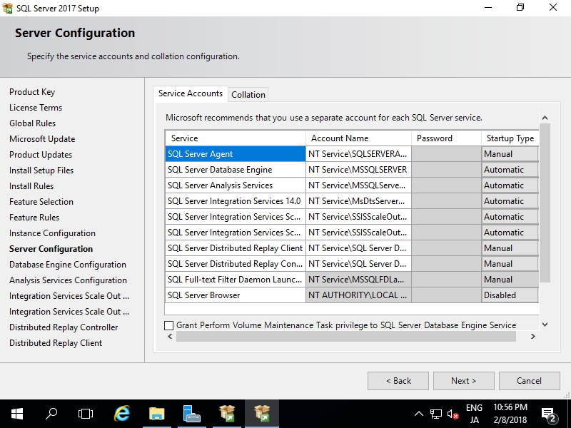 Windows Server 2016 : SQL Server 2017 : Install : Server World