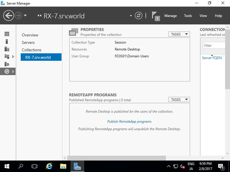 Windows Server 2016 : Publish RemoteApp : Server World