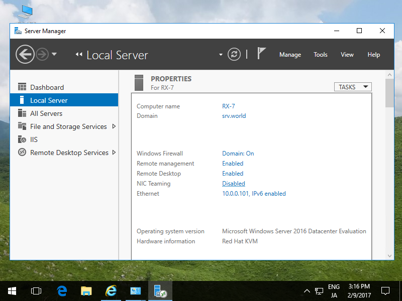 Windows server 2016 connect to remoteapp server world for Window remote desktop