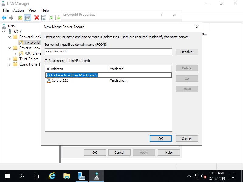 Windows Server 2019 : DNS Server : Configure Secondary Zone