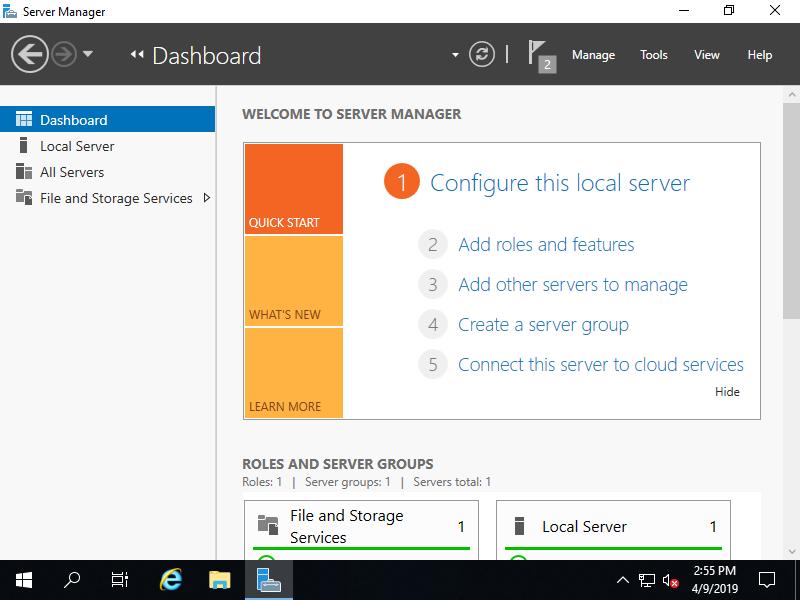 Windows Server 2019 : iSCSI : Configure iSCSI Target : Server World