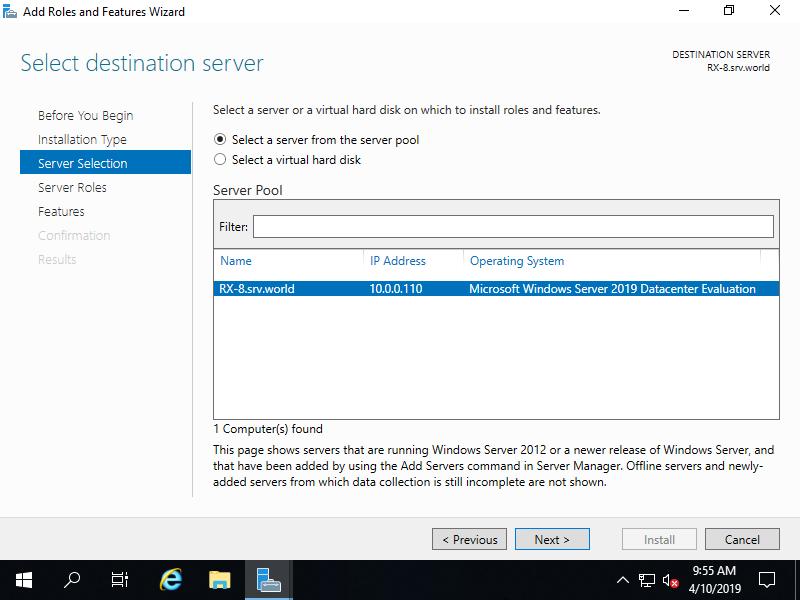 Windows Server 2019 : NFS Server : Install NSF Client